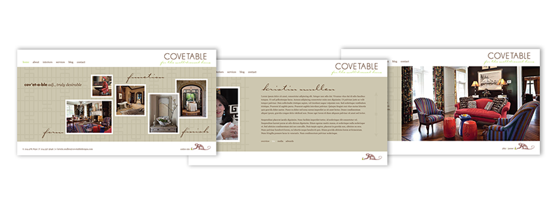 Covetable Designs main website