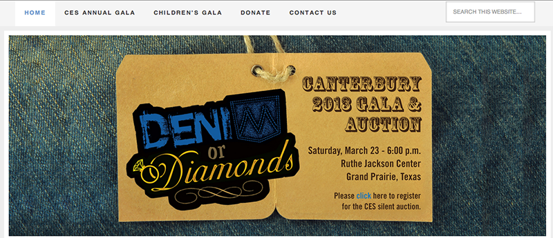 2013 Canterbury Gala Website